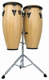 Conga Drums - Latin Percussion Conga Set with Double Stand