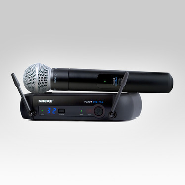 Wireless Microphone - Shure Wireless Outfit with SM58 microphone