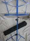 Music Stand - Blue Folding Music Stand with Travel Bag