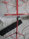 Music stand - Red Folding Stand with Travel Bag