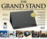 The Grand Stand® Portable Music and Bookstand Black