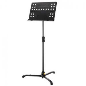 Hercules music stand with perorated desk
